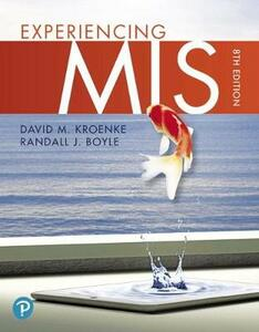 Mymislab with Pearson Etext -- Access Card -- For Experiencing MIS - David M. Kroenke,Randall J Boyle - cover