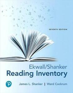 Ekwall/Shanker Reading Inventory, with Enhanced Pearson Etext -- Access Card Package - James L Shanker,Ward Cockrum - cover
