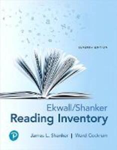Ekwall/Shanker Reading Inventory - James L. Shanker,Ward Cockrum - cover