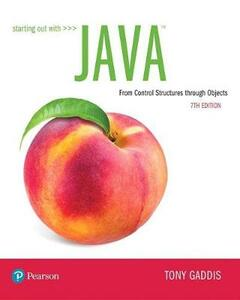 Starting Out with Java: From Control Structures through Objects - Tony Gaddis - cover