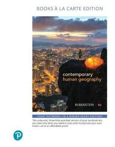 Contemporary Human Geography, Books a la Carte Plus Mastering Geography with Pearson Etext -- Access Card Package - James M. Rubenstein - cover