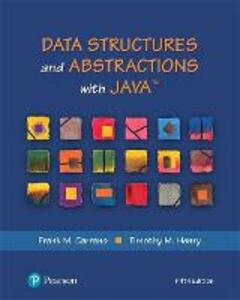 Data Structures and Abstractions with Java - Frank M. Carrano,Timothy M. Henry - cover