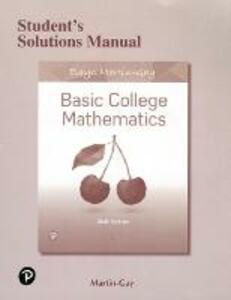 Student's Solutions Manual for Basic College Mathematics - Elayn Martin-Gay - cover