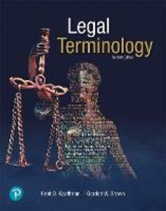Legal Terminology - Kent D. Kauffman,Gordon W. Brown - cover