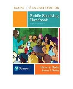 Public Speaking Handbook -- Loose-Leaf Edition - Steven A Beebe,Susan J Beebe - cover