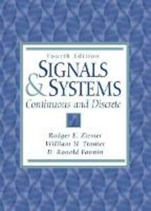 Signals and Systems: Continuous and Discrete - Rodger E. Ziemer - cover