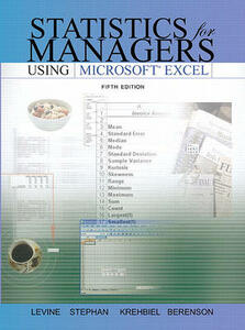 Statistics for Managers Using Microsoft Excel, (Sve) Value Pack (Includes Student Study Guide & Solutions Manual & Key Formula Guide) - David M Levine - cover
