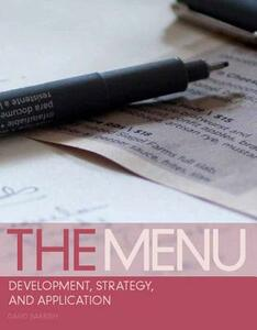 The Menu: Development, Strategy, and Application - David Barrish - cover