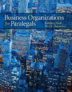 Business Organizations for Paralegals - Kathleen Reed,Henry R. Cheeseman,John J Schlageter III - cover