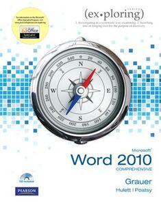 Exploring Microsoft Office Word 2010 Comprehensive - Robert T. Grauer,Mary Anne Poatsy,Michelle Hulett - cover