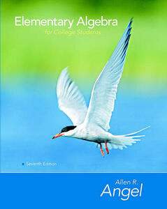 Elementary Algebra for College Students Value Package (Includes Student Study Pack) - Allen R Angel - cover