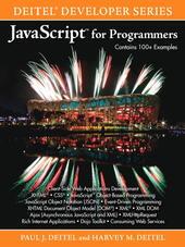 JavaScript™ for Programmers