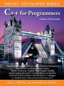 Ebook in inglese C++ for Programmers Deitel, Harvey M. , Deitel, Paul