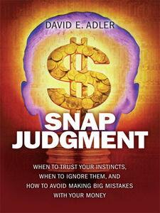 Ebook in inglese Snap Judgment Adler, David E.