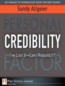Ebook in inglese Credibility Allgeier, Sandy