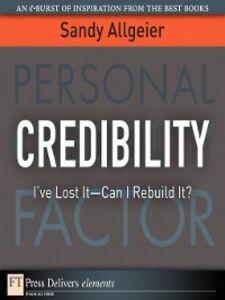 Foto Cover di Credibility, Ebook inglese di Sandy Allgeier, edito da Pearson Education