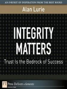 Foto Cover di Integrity Matters, Ebook inglese di Alan Lurie, edito da Pearson Education