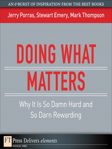 Ebook in inglese Doing What Matters Emery, Stewart , Porras, Jerry , Thompson, Mark
