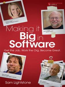 Foto Cover di Making it Big in Software, Ebook inglese di Sam Lightstone, edito da Pearson Education