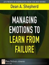 Managing Emotions to Learn from Failure