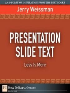 Ebook in inglese Presentation Slide Text Weissman, Jerry