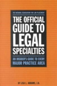 Official Guide to Legal Specialties - National Association of Law Placement - cover