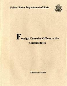 Foreign Consular Offices in the United States, Fall/Winter 2004 - cover