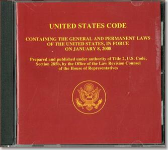 United States Code Containing the General and Permanent Laws of the United States in Force on January 2, 2006 (CD-ROM) - cover