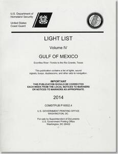 Light List: Gulf of Mexico, Econfina River, Florida to the Rio Grande, Texas 2014 - cover