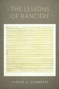 Ebook in inglese Lessons of Ranciere Chambers, Samuel A.