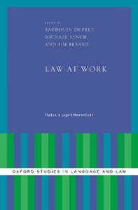 Ebook in inglese Law at Work: Studies in Legal Ethnomethods -, -