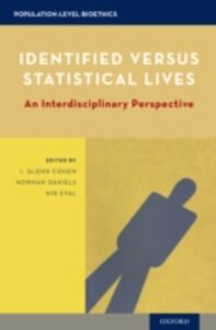 Ebook in inglese Identified versus Statistical Lives: An Interdisciplinary Perspective -, -