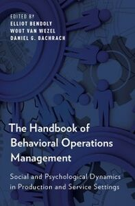 Foto Cover di Handbook of Behavioral Operations Management: Social and Psychological Dynamics in Production and Service Settings, Ebook inglese di  edito da Oxford University Press