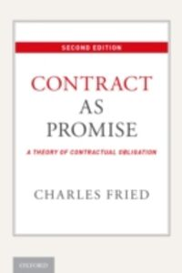 Ebook in inglese Contract as Promise: A Theory of Contractual Obligation Fried, Charles