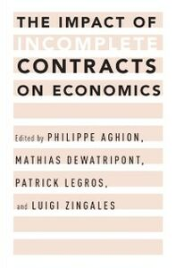 Ebook in inglese Impact of Incomplete Contracts on Economics