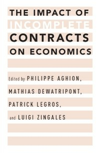 Ebook in inglese Impact of Incomplete Contracts on Economics -, -