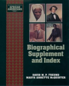Ebook in inglese Biographical Supplement and Index Freund, David M. P. , McQuirter, Marya Annette