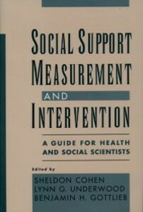 Ebook in inglese Social Support Measurement and Intervention: A Guide for Health and Social Scientists -, -