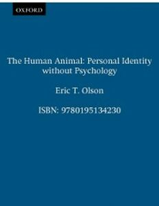 Ebook in inglese Human Animal: Personal Identity without Psychology Olson, Eric T.