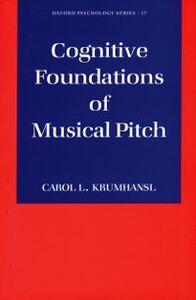 Foto Cover di Cognitive Foundations of Musical Pitch, Ebook inglese di Carol L. Krumhansl, edito da Oxford University Press