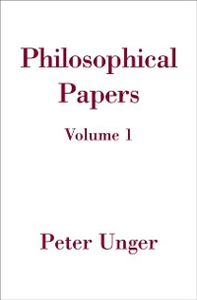 Ebook in inglese Philosophical Papers: Volume One Unger, Peter