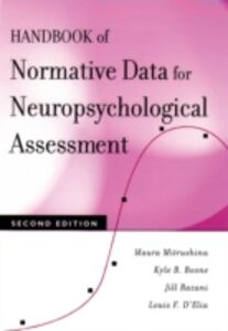 Ebook in inglese Handbook of Normative Data for Neuropsychological Assessment Boone, Kyle B. , Mitrushina, Maura , Razani, Jill