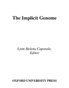 Ebook in inglese Implicit Genome -, -