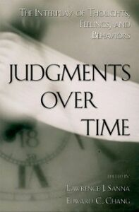 Ebook in inglese Judgments over Time: The Interplay of Thoughts, Feelings, and Behaviors -, -