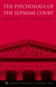 Foto Cover di Psychology of the Supreme Court, Ebook inglese di Lawrence S. Wrightsman, edito da Oxford University Press