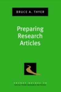 Ebook in inglese Preparing Research Articles Thyer, Bruce A.