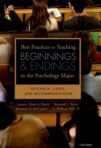 Foto Cover di Best Practices for Teaching Beginnings and Endings in the Psychology Major: Research, Cases, and Recommendations, Ebook inglese di AA.VV edito da Oxford University Press