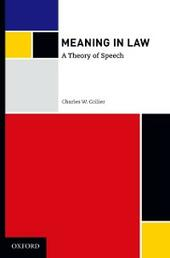 Meaning in Law: A Theory of Speech