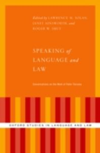 Foto Cover di Speaking of Language and Law: Conversations on the Work of Peter Tiersma, Ebook inglese di  edito da Oxford University Press