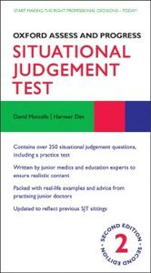 Ebook in inglese Oxford Assess and Progress: Situational Judgement Test Dev, Harveer , Metcalfe, David
